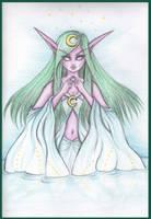 Night Elf Priestess by Samaramon
