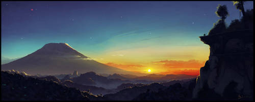 Mata Nui sights - Mangai Dawn by IRON6DUCK