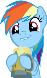 Rainbow Dash Cider Face Vector by ParagonAJ