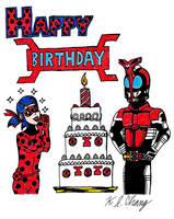 Red Bug Birthday Celebration by StealthNinja5