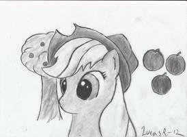 Applejack portrait by TheOmNom