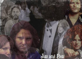 Jim Morrison and Pamela Courson by YourxLittlexVampyre