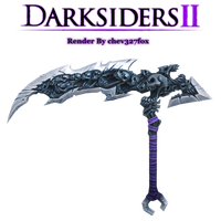 Darksiders 2 Death's Chaos Fang Scythe Render by chev327fox