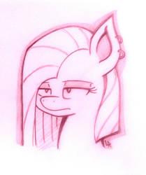 Pinkamena Sketch by DubstepBrony4Life