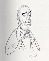 Christopher Lee by Domcell
