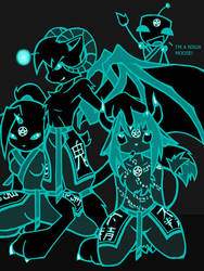 The Evil Demon Ninja Gang by Naur