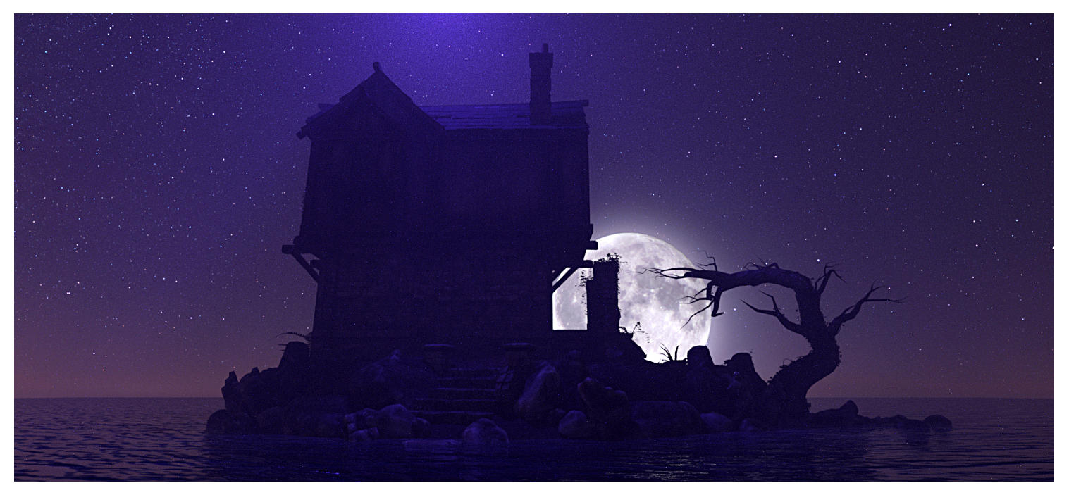 Dark House by Platycerium
