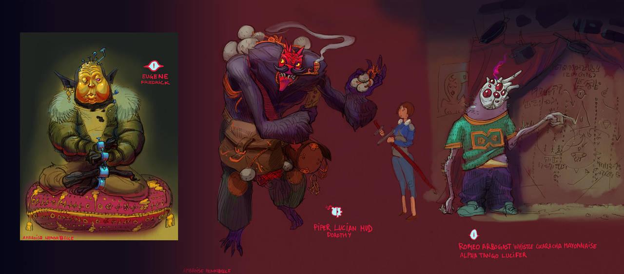 Kill Six Billion Demons Devil Contest Entry by Ambroise-H