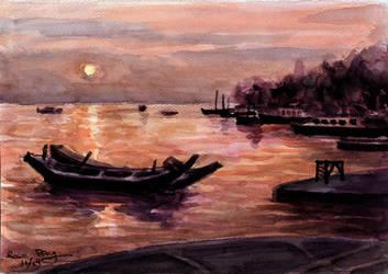 Watercolor landscape by dragofyre7