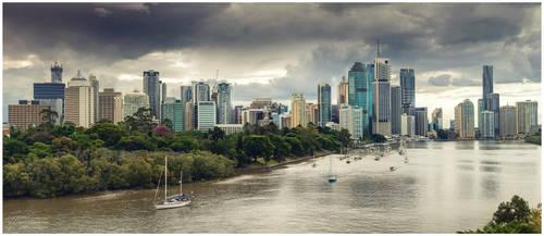 Brisbane, Australia - Kangaroo Point by InfuzedMedia