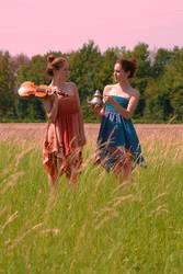 Twins in field II by PanzerGoth