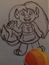 Trolls OC Doodle - Gingersnap by jade-beaver