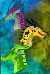 The Three Pantala Heros by WisdomClaw