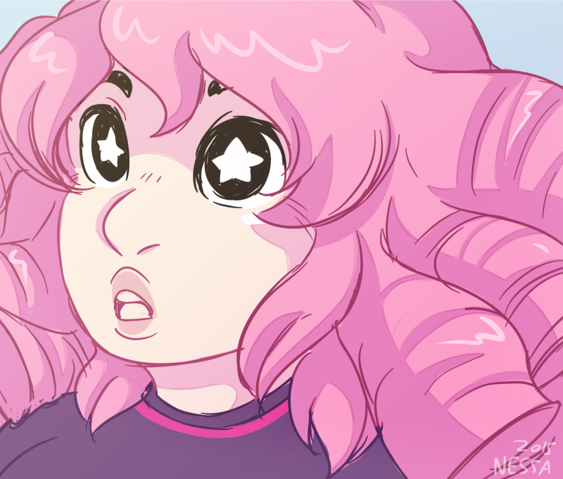 Little doodle Rose fanart~ I can't wait to cosplay her, I'll be doing a kinda casual cosplay at some point. This character is from a cartoon called Steven Universe