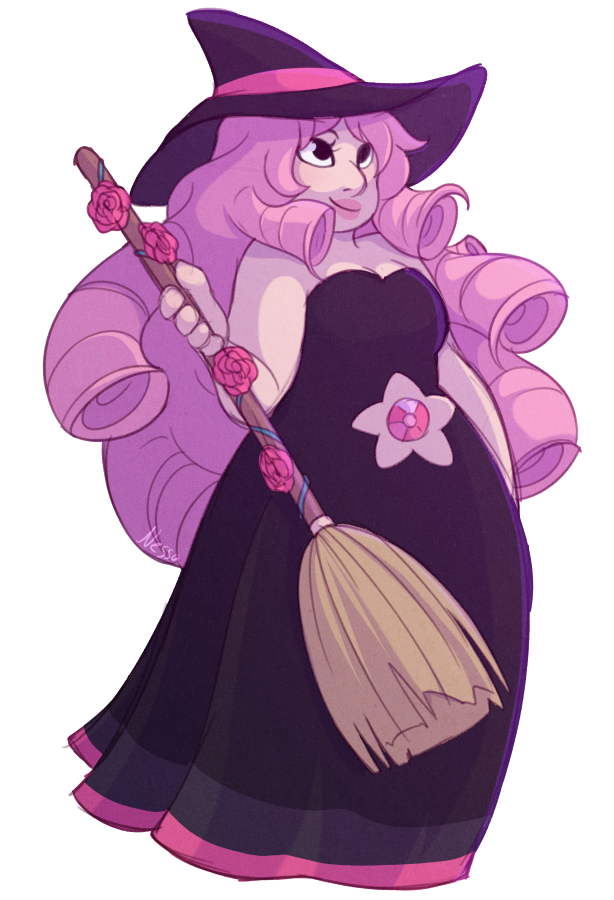 Happy Halloween, have a witchy Rose! Outfit based on one Rebecca Sugar did, but with some add ons from me: rebeccasugar.tumblr.com/post/1…