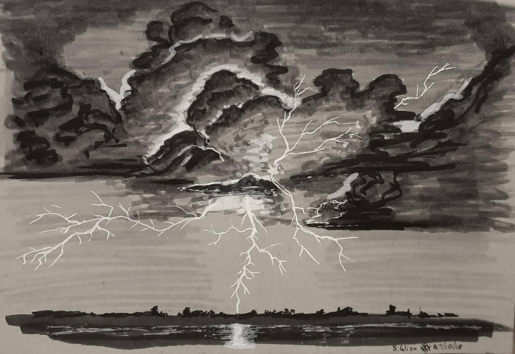 Inktober Day 27 Thunder by Glaiceana
