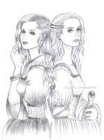 Arwen and Eowyn by Daytha