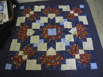 Fractured Crystals Quilt top by kethrynrose