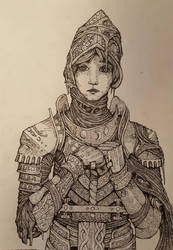 Woman in Armor by EhItsArt