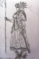 Hrist valkyrie sketch by Limeila