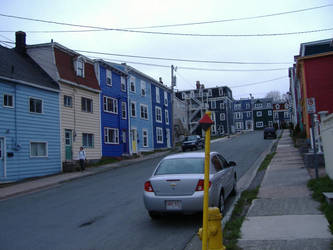 Colorful row houses 2 by tangledupinbrown