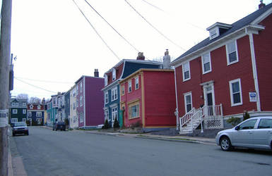 Colorful row houses 3 by tangledupinbrown