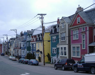 Colorful row houses 5 by tangledupinbrown