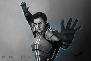 Kaidan Alenko - Mass Effect by Teshayel