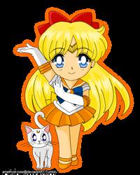 05. Sailor Venus and Artemis by amethyst-rose