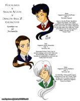 Hogwarts Crossover: Seiya, Taiki and Yaten by amethyst-rose