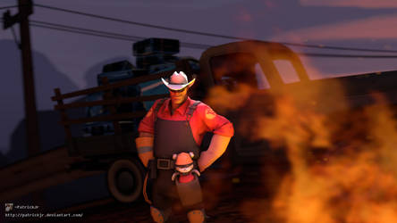 SFM Poster: Engie and Teddy by PatrickJr