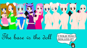 The Base VS The Doll by floraxj9