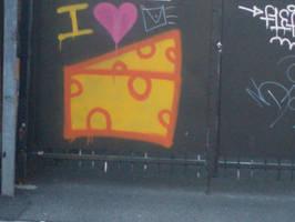 I love cheese graffiti by floraxj9