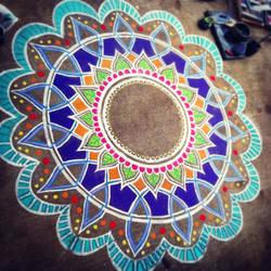 Chalk Mandala by CalliopeHoop