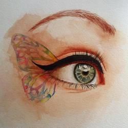 Watercolor practice - eye by CalliopeHoop