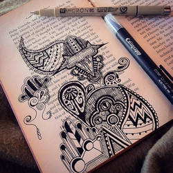 Book doodles by CalliopeHoop