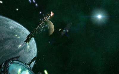 Capital Ship Duel by JAV1L15
