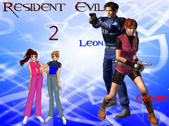 RE2 - SSMU Couple Claire and Leon Wallpaper 01 by Angel-of-Love