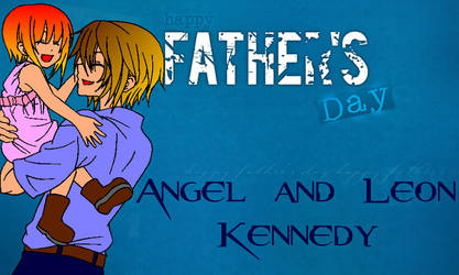 RE Young Angel and Leon K. Father's Day Background by Angel-of-Love