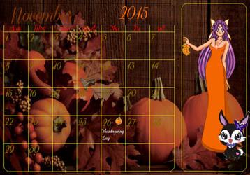 SSMU Calendar Girls: Lillian+Luea - November 2015 by Angel-of-Love