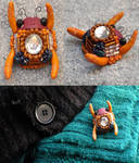 Beetle Bug Insect Brooch Pin by Darkween