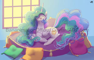 Celestia on a Massive Pillow by BananimationOfficial