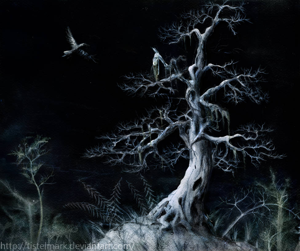 Tree By Night by Tistelmark
