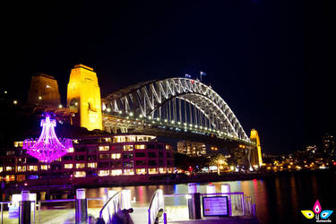 harbor bridge - vivid sydney 2012 by lilmarie