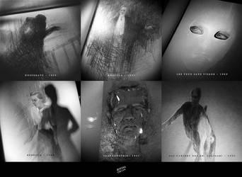 Classic Horror Film Sketches by RovinaCai