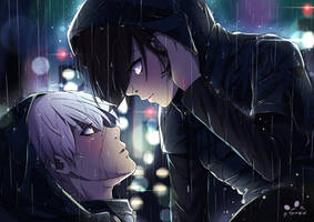 Kaneki x Touka - Under the rain by SpukyCat
