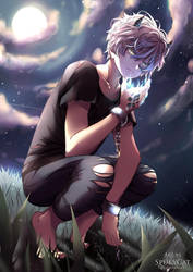 Half-dragon boy _ Commission by SpukyCat