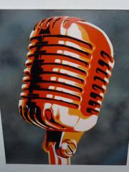 50s microphone orange by Stencilart101