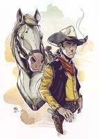 Lucky Luke - 70th Anniversary by LudoDRodriguez