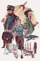 Les Aventures de Tintin - Revisited by LudoDRodriguez